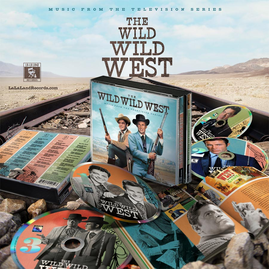 Wild Wild West TV Series Soundtrack CD 4 Disc Set LIMITED EDITION OF 1000