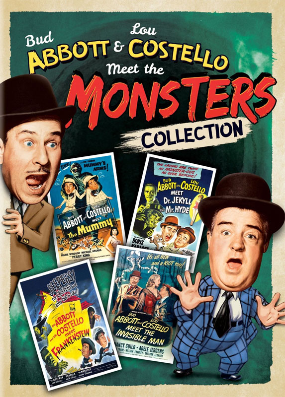 Abbott & Costello Meet The Monsters Collection DVD 4 Movies
