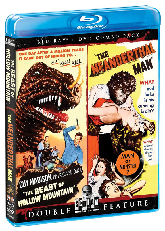 Beast Of Hollow Mountain 1956 / Neanderthal Man 1953 Blu-Ray