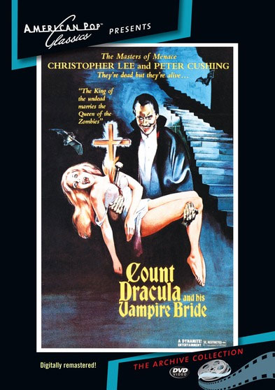 Count Dracula and His Vampire Bride 1974 DVD Digitally Remastered Peter Cushing and Christopher Lee