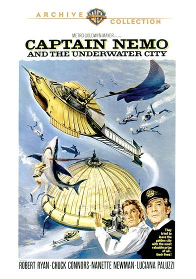 Captain Nemo and the Underwater City 1970 DVD