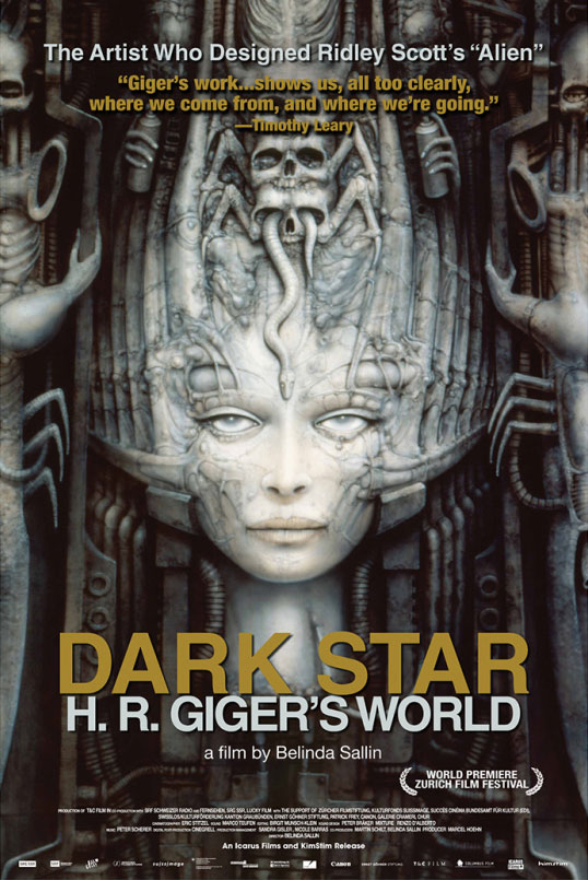 Dark Star H.R. Giger's World 2015 Documentary DVD