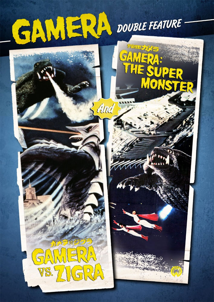 Gamera Vs. Zigra / Gamera The Super Monster DVD English Dubbed Widescreen
