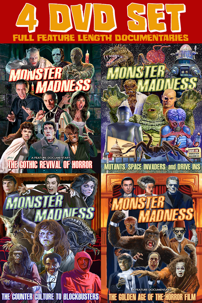Monster Madness Full Feature Length Documentary DVDs 4 Disc Set