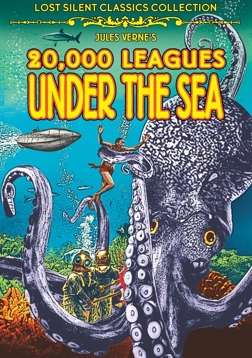 20,000 Leagues Under The Sea Silent Film DVD Jules Verne
