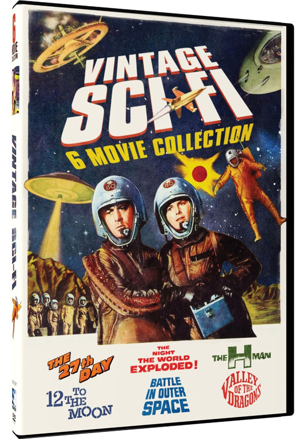 Vintage Sci-Fi Movies, 6 Film Set -The 27th Day, The H-Man, Valley of the Dragons, 12 to the Moon, Battle in Outer Space, Night the World Exploded DVD