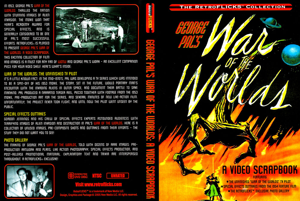 War Of The Worlds 1953 Video Scrapbook DVD George Pal H. G. Wells - Click Image to Close