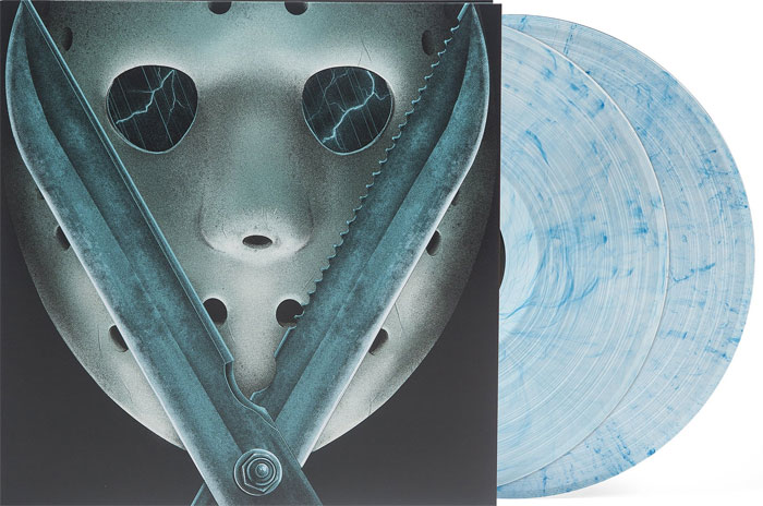 Friday the 13th Part V: A New Beginning Soundtrack Vinyl 2LP Set Harry Manfredini Blue Vinyl