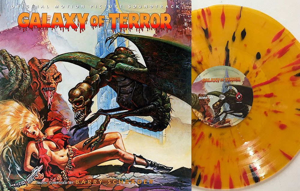 Galaxy of Terror Soundtrack Vinyl LP Barry Schrader
