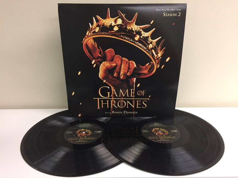Game of Thrones Season 2 Soundtrack Vinyl 2 LP SET Ramin Djawadi