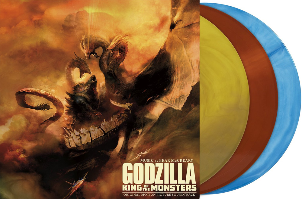 Godzilla King of the Monsters Soundtrack Vinyl 3 LP Set Colored Vinyl