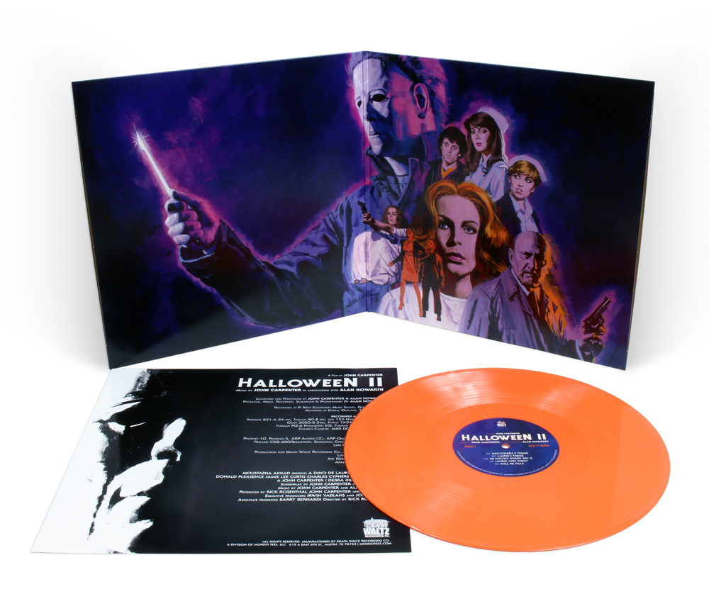 Halloween II Soundtrack Vinyl LP John Carpenter Orange Vinyl