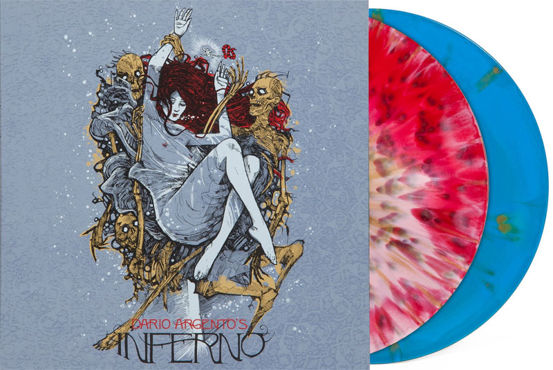 Inferno Soundtrack LP Keith Emerson 2 LP SET Colored Vinyl Dario Argento