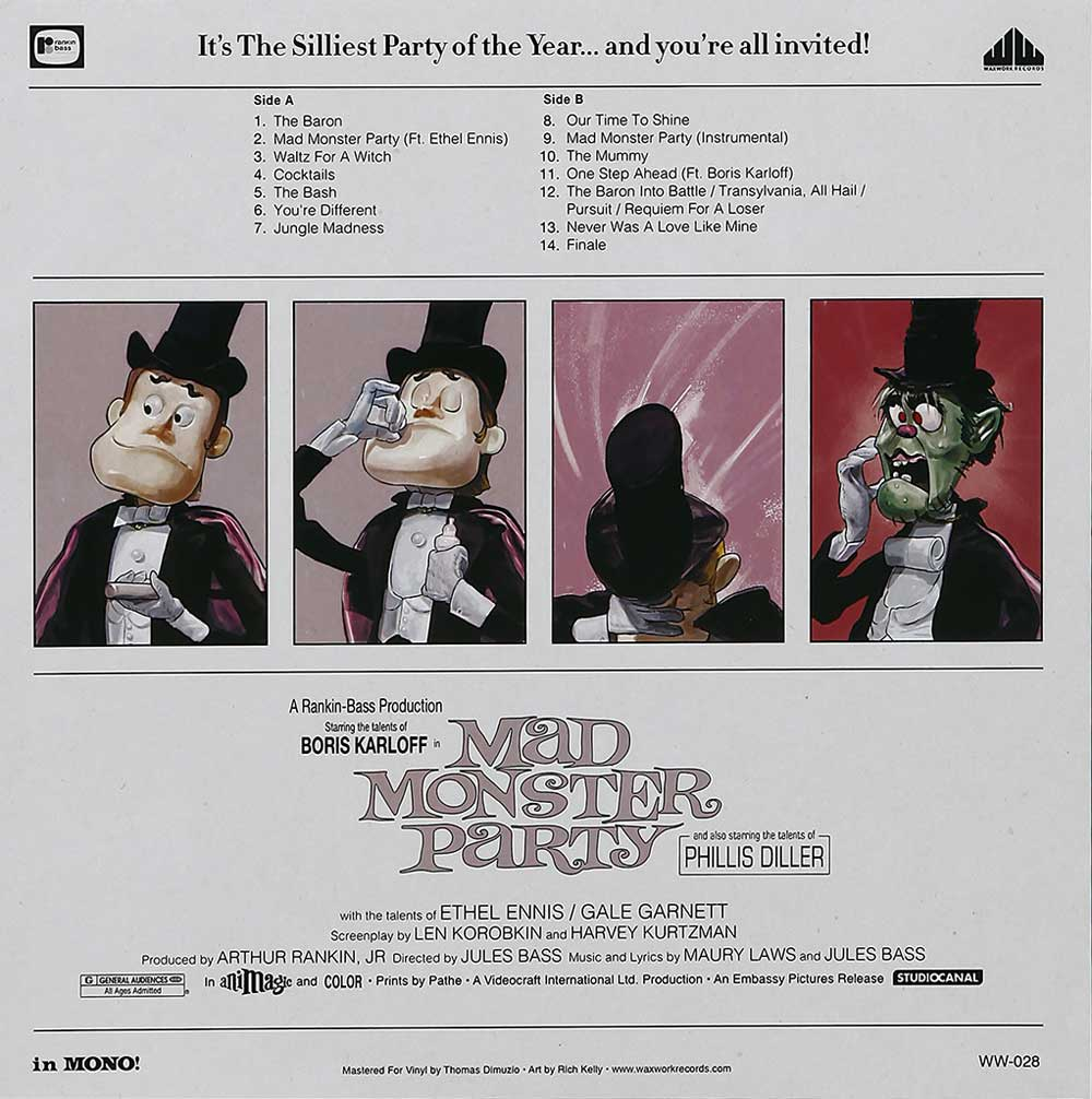 Mad Monster Party Soundtrack LP Rankin/Bass Count Dracula (Heavyweight Black and Green Swirl Colored Vinyl)
