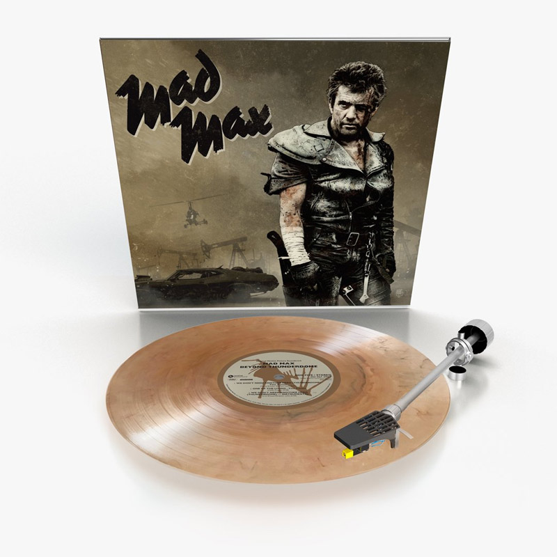 Mad Max Trilogy Soundtrack Vinyl 3 LP Set Gray, Black & Sand Colored Vinyl