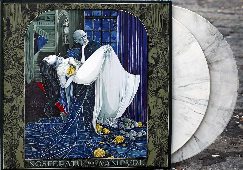 Nosferatu The Vampire Soundtrack Vinyl LP Popol Vuh 2 LP Set White Marble Castle Wall Colored Vinyl