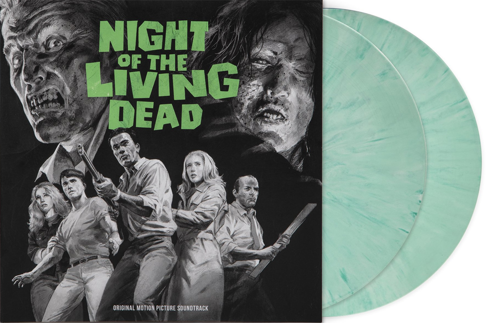 Night of the Living Dead Soundtrack Vinyl LP 2 Disc Set Limited Edition Green Vinyl