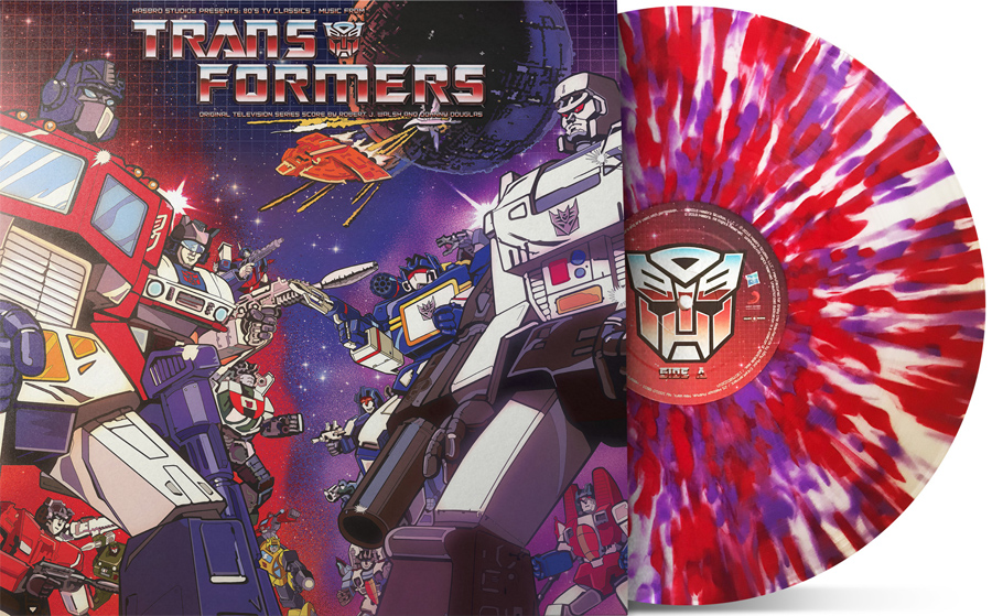 Transformers Music from the 80s TV Series Soundtrack LP Splatter Colored Vinyl