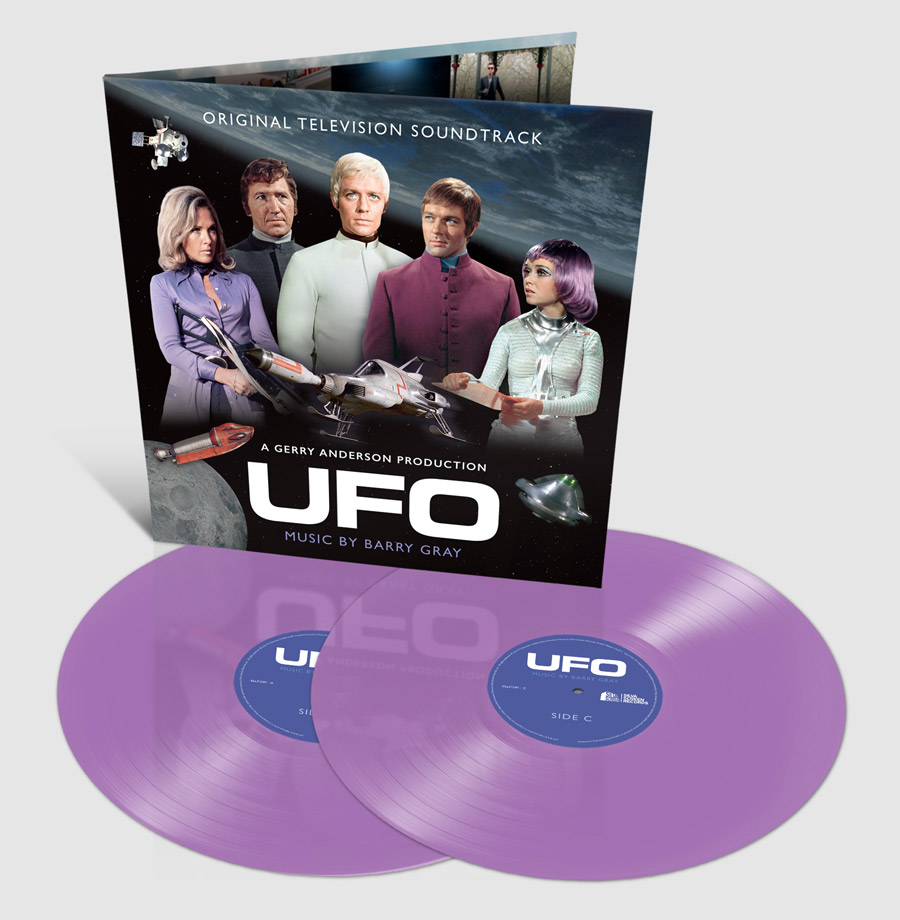UFO TV Series Soundtrack LP Barry Gray Colored Vinyl 2 LP SET