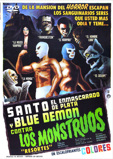 Santo And The Blue Demon Vs. The Monsters 1969 DVD