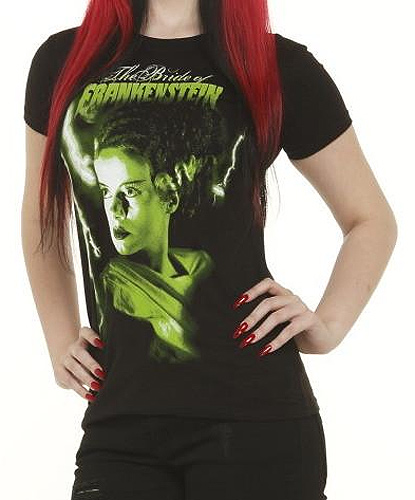 Bride Of Frankenstein Green Women's T-Shirt