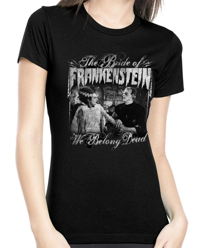 Bride Of Frankenstein We Belong Dead Women's T-Shirt