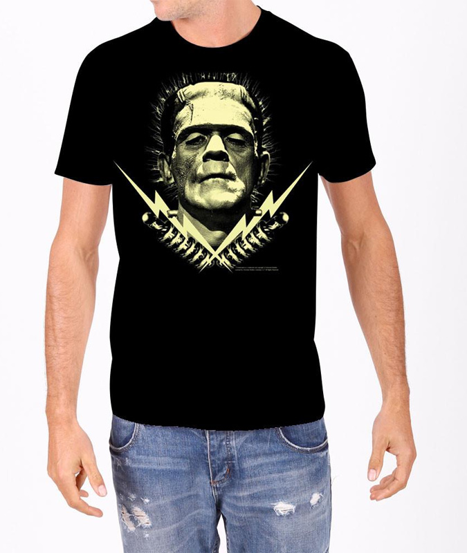 Frankenstein Bolts Glow In The Dark T-Shirt