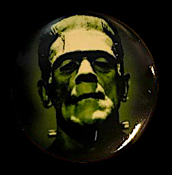 Frankenstein Boris Karloff Monster Button