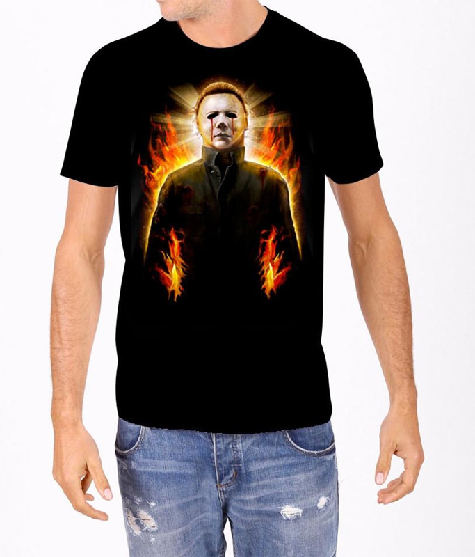 Halloween Michael Myers Flames T-Shirt John Carpenter