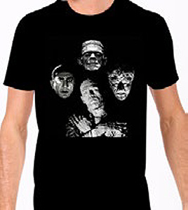 Universal Monsters Horror Band T-Shirt
