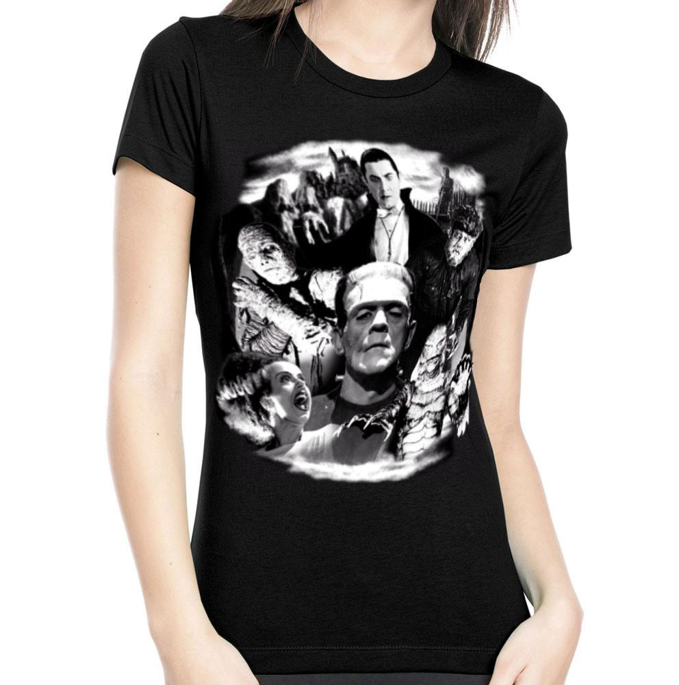 Universal Monsters Collage GLOW-IN-THE-DARK Women's T-Shirt
