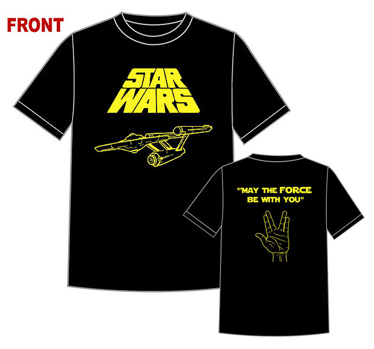 Greatest T-Shirt Ever Star Trek / Star Wars