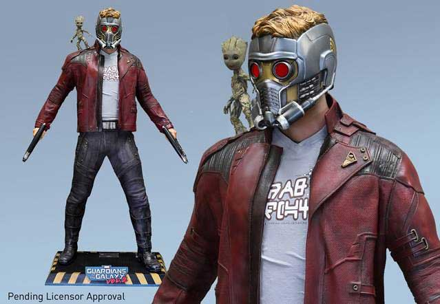 Guardians of the Galaxy Vol 2 Starlord & Baby Groot Life-Size Statue Display