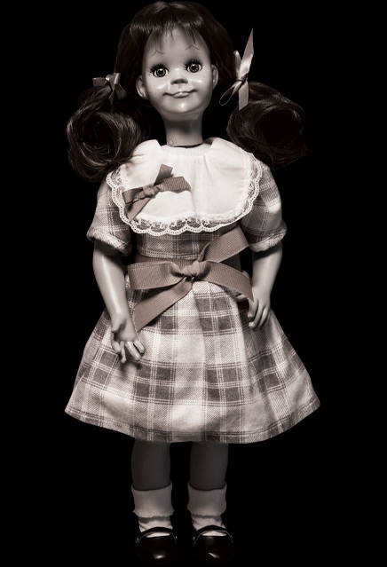 Twilight Zone Talky Tina Doll Prop Replica - Click Image to Close
