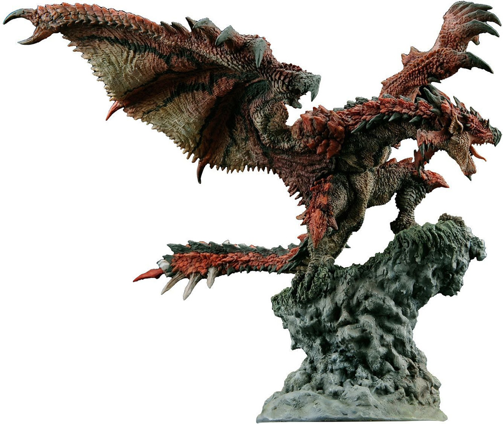 Monster Hunter Dragon Fire Wyvern Rathalos Builder Creator Statue by Capcom