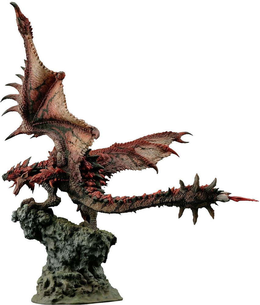 Monster Hunter Dragon Fire Wyvern Rathalos Builder Creator Statue by