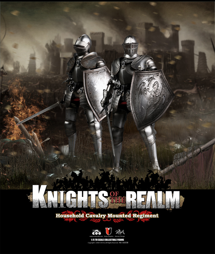 Knights Of The Realm Cavalry Mounted Regiment Set 1/6 Scale Figure Set of 2 by Coo