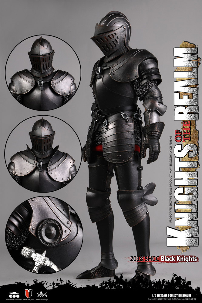 Knights Of The Realm Black Knight 1/6 Scale Figure by COO