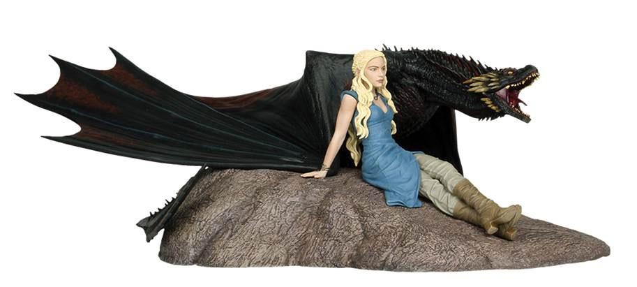 "Game of Thrones Daenerys and Drogon 18"" Statue"