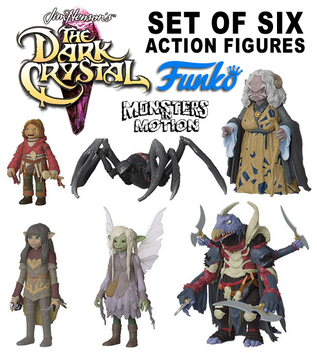 Dark Crystal Set of 6 Action Figures by Funko Jim Henson