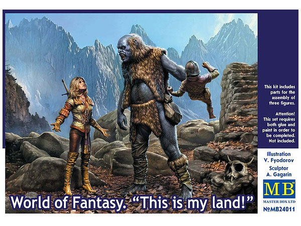 World Of Fantasy This Is My Land 1/24 Scale Model Kit by Master Box