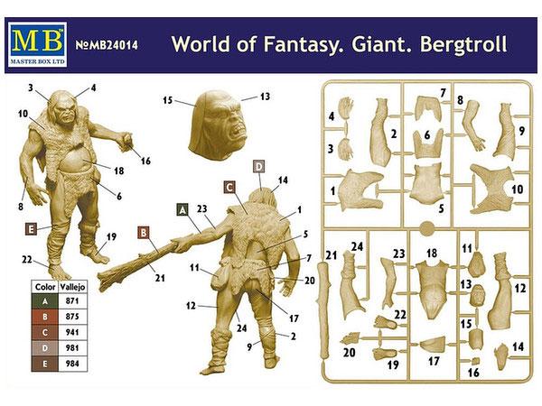 World Of Fantasy Giant Bergtroll 1/24 Scale Plastic Model