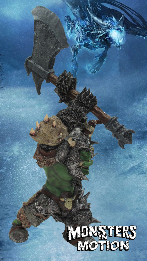 "Warhammer Giant Orc 24"" Tall Prefinished Statue"
