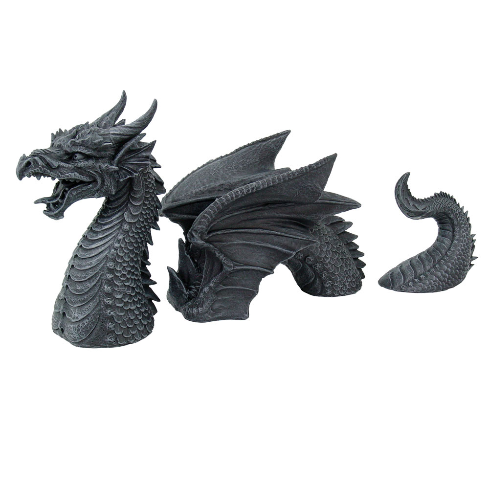 Dragon Lawn Dragon 3 Part Statue