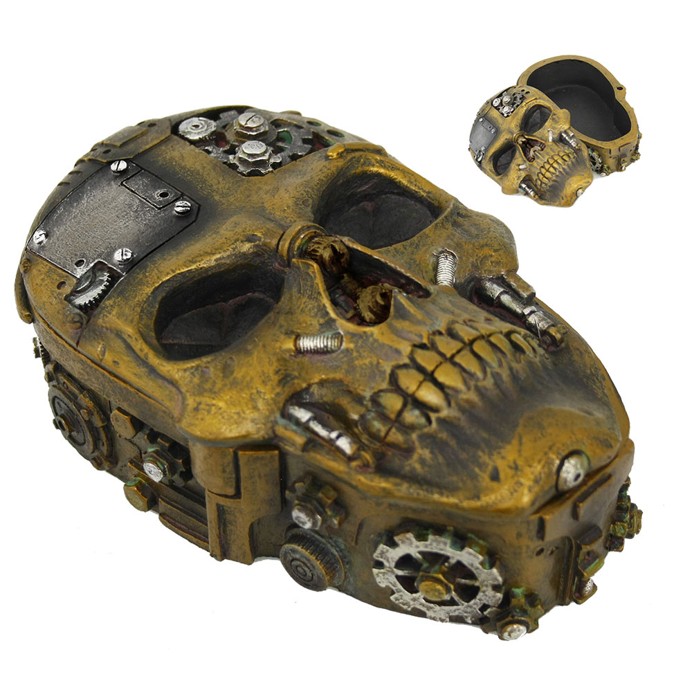 Steampunk Skull Stash Box