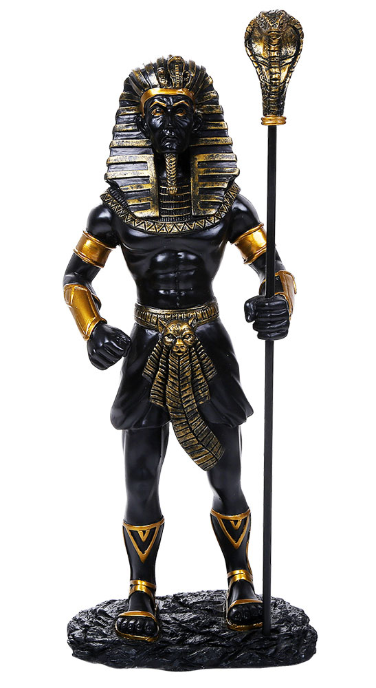 King Tut Egyptian 1/6 Scale Black Statue