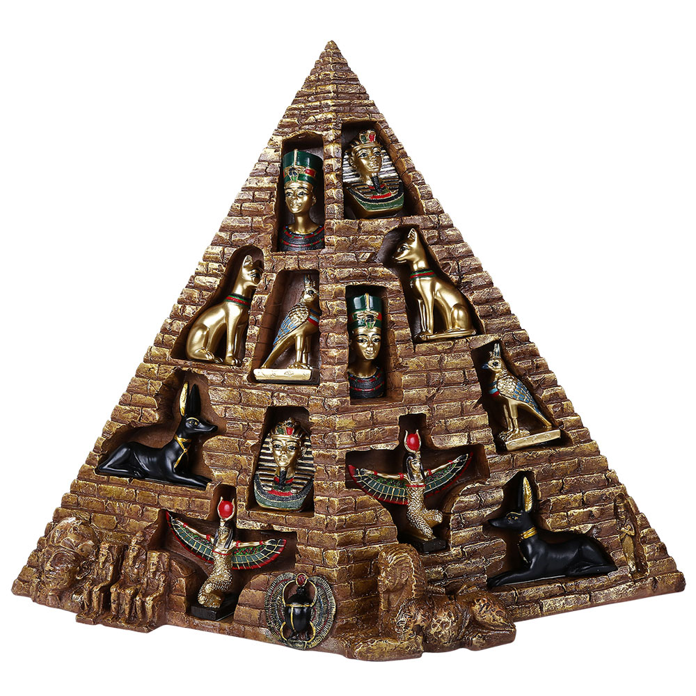 Egyptian Pyramid with 12 Piece Figure Set