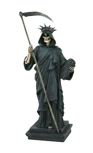Statue of Liberty Grim Reaper Cold Cast Resin Statue