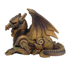 Dragon Steampunk Cold Cast Resin Statue