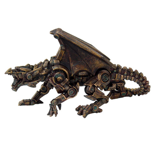 Steampunk Mechanical Dragon Cold Cast Resin Statue